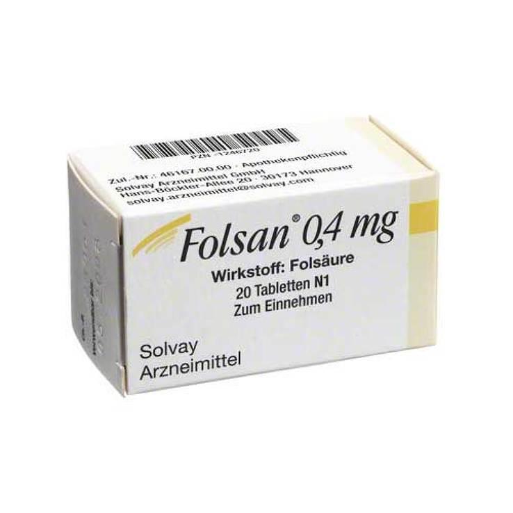 Folsan® 0,4mg 20 Tbl.