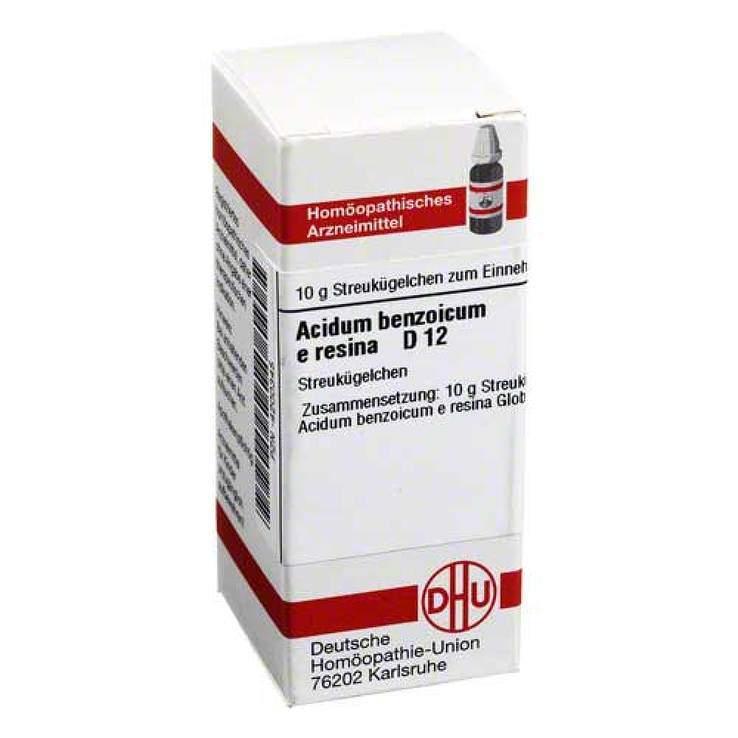 Acidum benzoicum e resina D12 DHU 10 g