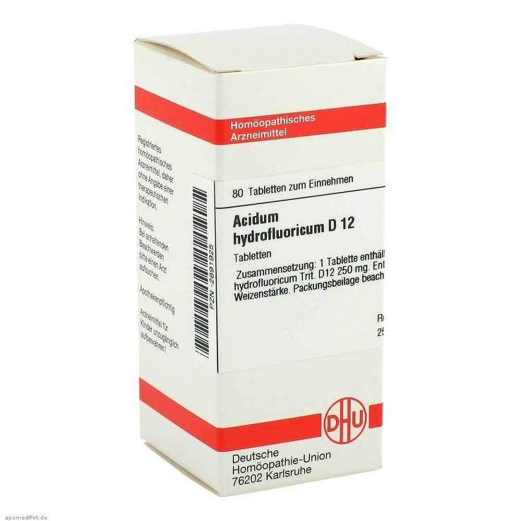 Acidum hydrofluoricum D12 DHU 80 Tbl.