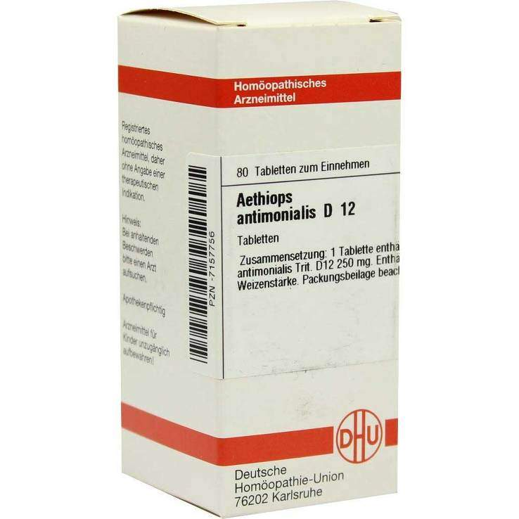 Aethiops antimonialis D12 DHU 80 Tbl.