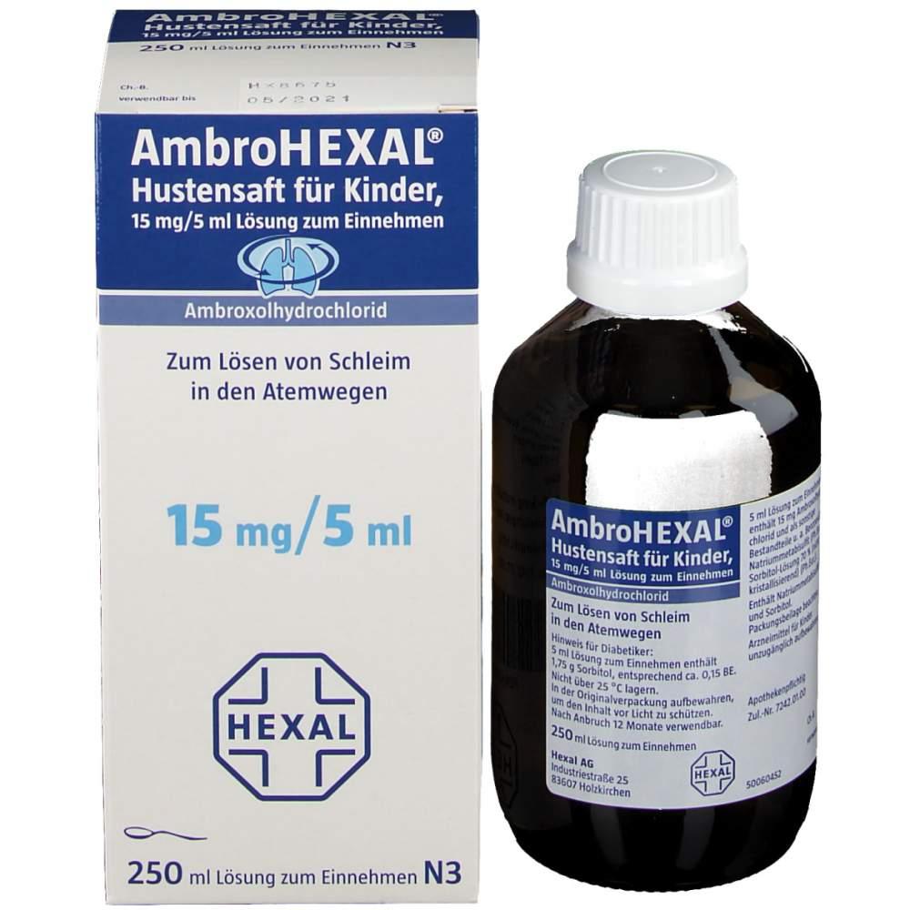 AmbroHEXAL® Hustensaft f. Kinder 250 ml