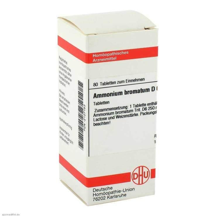 Ammonium bromatum D6 DHU 80 Tbl.