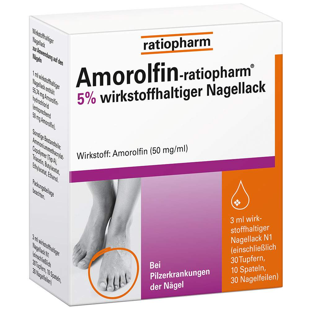 Amorolfin-ratiopharm® 5% Nagellack 3ml