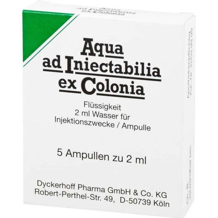 Aqua ad Iniectabilia ex Colonia Amp. 5x2ml