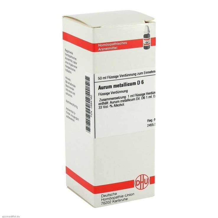 Aurum metallicum D6 DHU Dil. 50ml