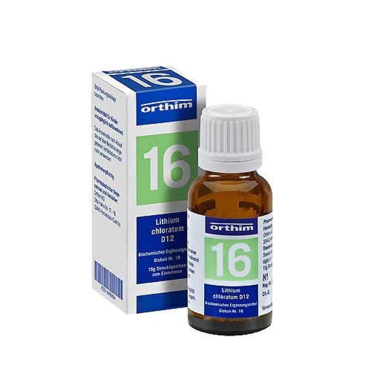 Bioch. Nr.16 Lithium chlor. D12 Orth.Glob. 15g