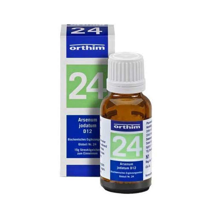 Bioch. Nr.24 Arsenicum jod. D12 Orth. Glob.15g