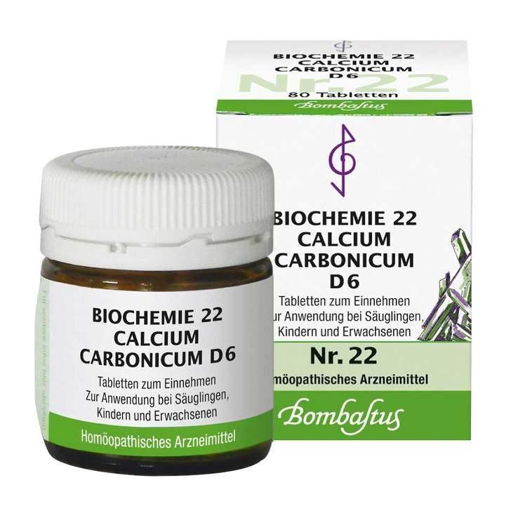 Biochemie 22 Calcium carbonicum Bombastus D6 80 Tbl.