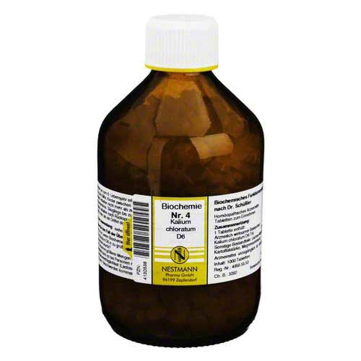 Biochemie 4 Kalium chlor. Nestmann D6 1000 Tbl.