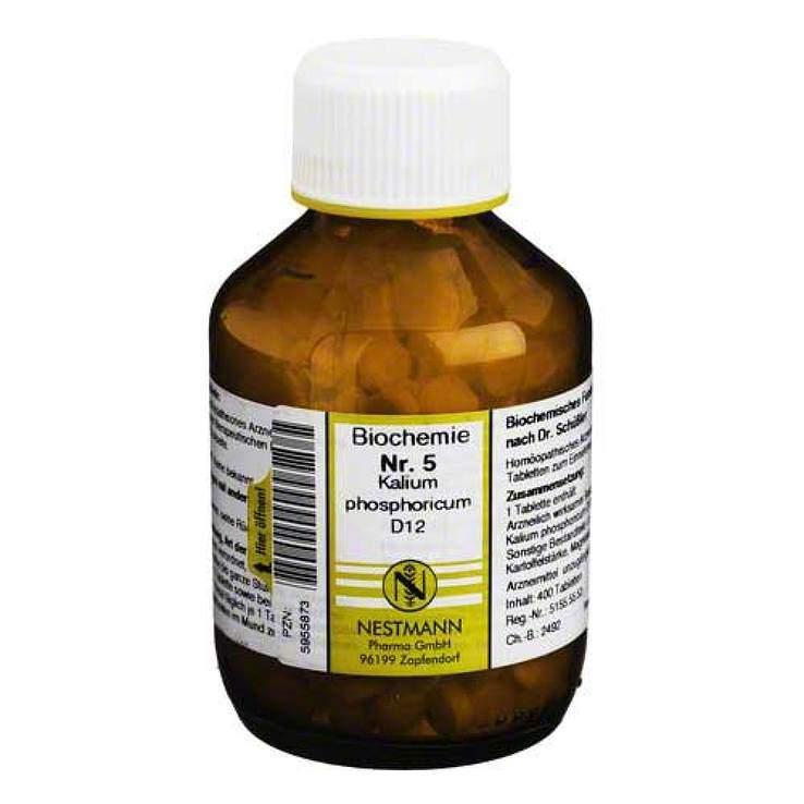Biochemie 5 Kalium phos. Nestmann D12 400 Tbl.