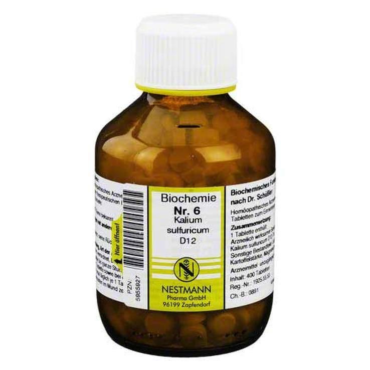 Biochemie 6 Kalium sulf. Nestmann D12 400 Tbl.