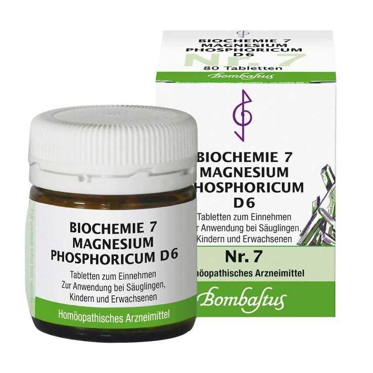 Biochemie 7 Magnesium phosphoricum Bombastus D6 80 Tbl.