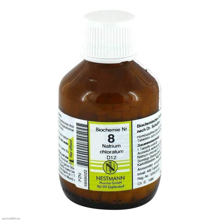 Biochemie 8 Natri. chlor. Nestmann D12 400 Tbl.