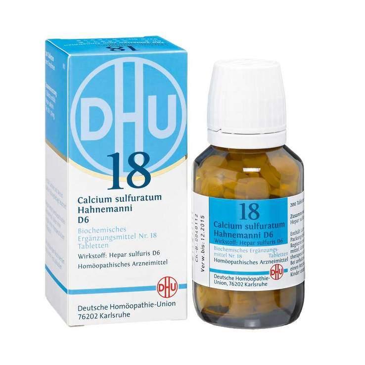 Biochemie DHU 18 Calcium sulfuratum D6 200 Tbl.