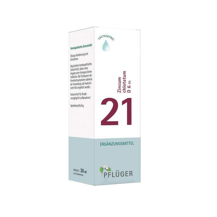 Biochemie Nr.21 Zincum chlor. D6 Pflüger Dil. 30ml