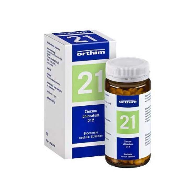 Biochemie Orthim 21 Zincum chloratum D12 400 Tbl.