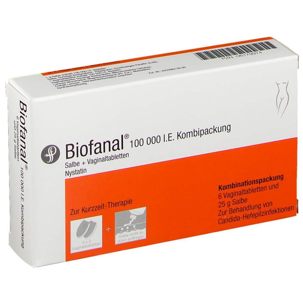 Biofanal® 100.000 I.E. Kombipackung 25 g Salbe und 6 Vaginaltabletten