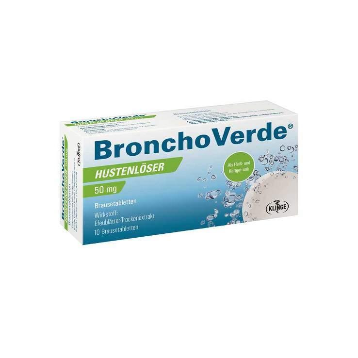 Bronchoverde Hustenlöser 50mg 10 Brausetbl.