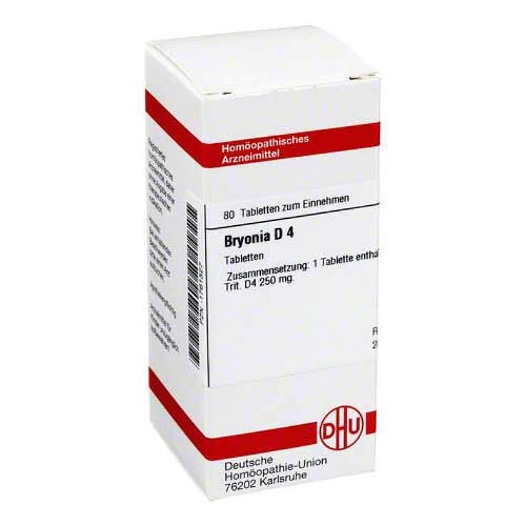 Bryonia D4 DHU 80 Tbl.
