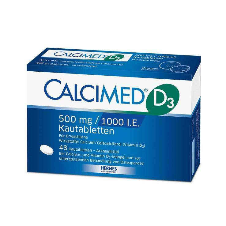 Calcimed D3 500mg/1000 I.E. 48 Kautbl.