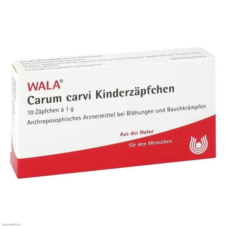 Carum carvi Wala Kinderzäpfchen 10x1g