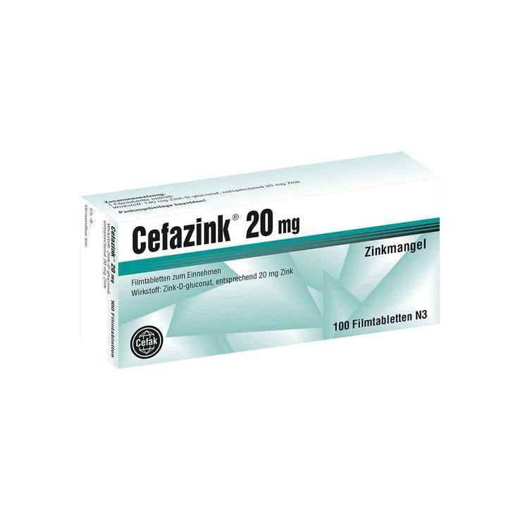 Cefazink® 20mg 100 Filmtbl.