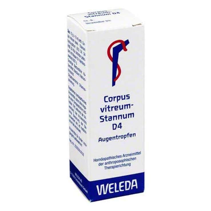 Corpus vitreum Stannum D4 Weleda Augentr. 10ml