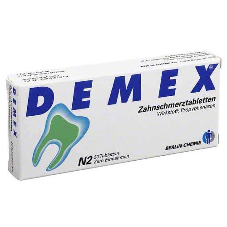 DEMEX® Zahnschmerztabletten 500 mg, 20 Tabletten