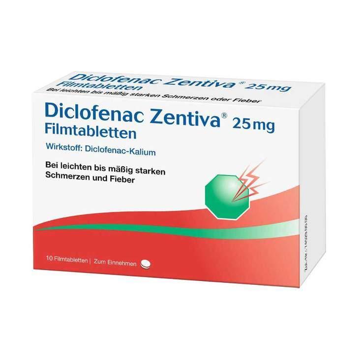 Diclofenac Zentiva 25 mg 10 Filmtabletten