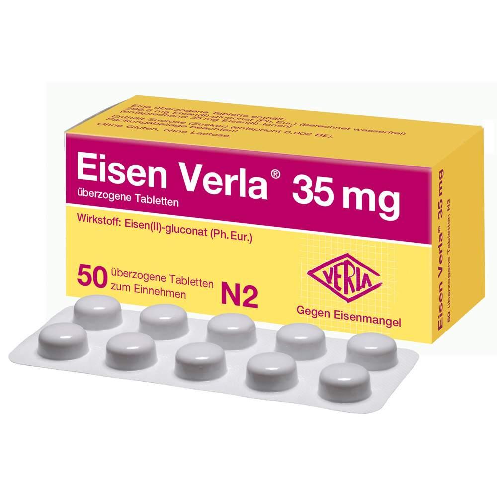 Eisen Verla 35 mg 50 überzogene Tbl.