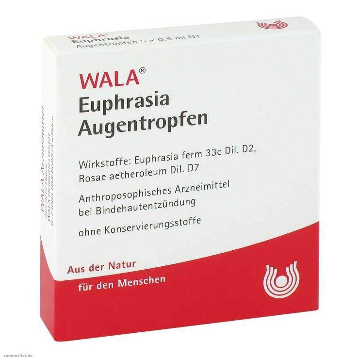 Euphrasia Augentropfen Wala 5x0,5ml