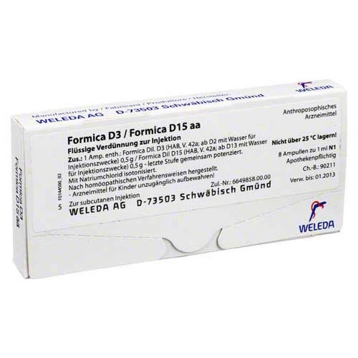 Formica D3/Formica D15 Weleda 8 x1ml Amp.
