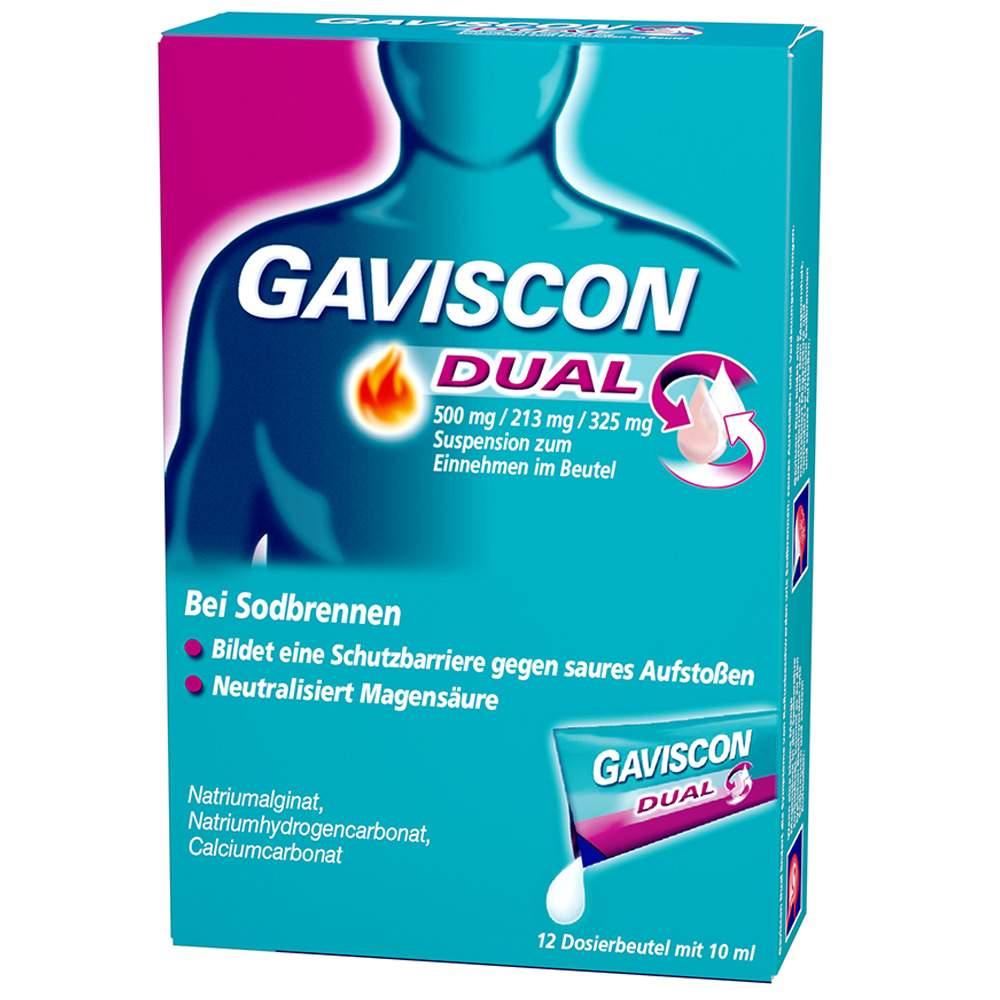 Gaviscon Dual 500mg/213mg/325mg 24x10 ml