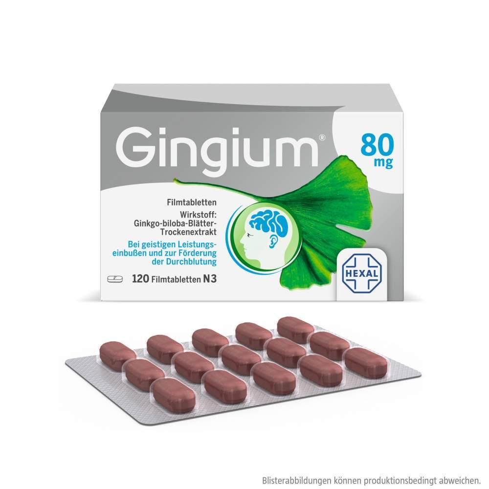 Gingium® 80 mg 120 Filmtabletten