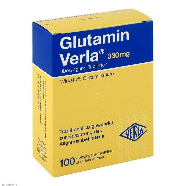 Glutamin Verla® 100 überz. Tbl.