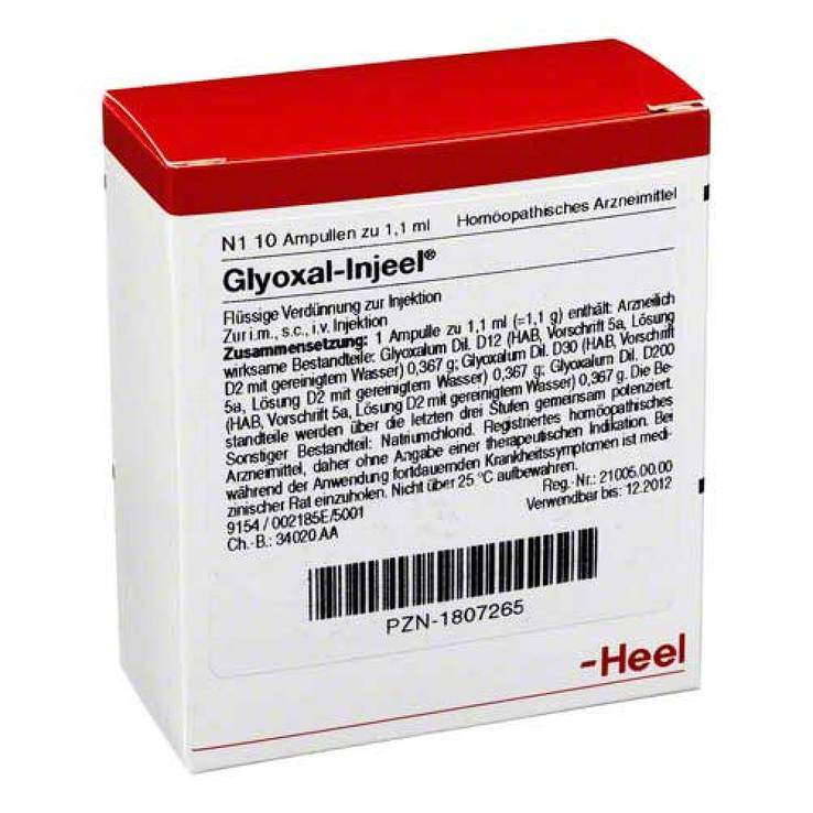 Glyoxal Injeel 10 Amp.