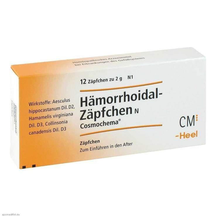 Hämorrhoidal Zäpfchen N Cosmochema 12 Supp.