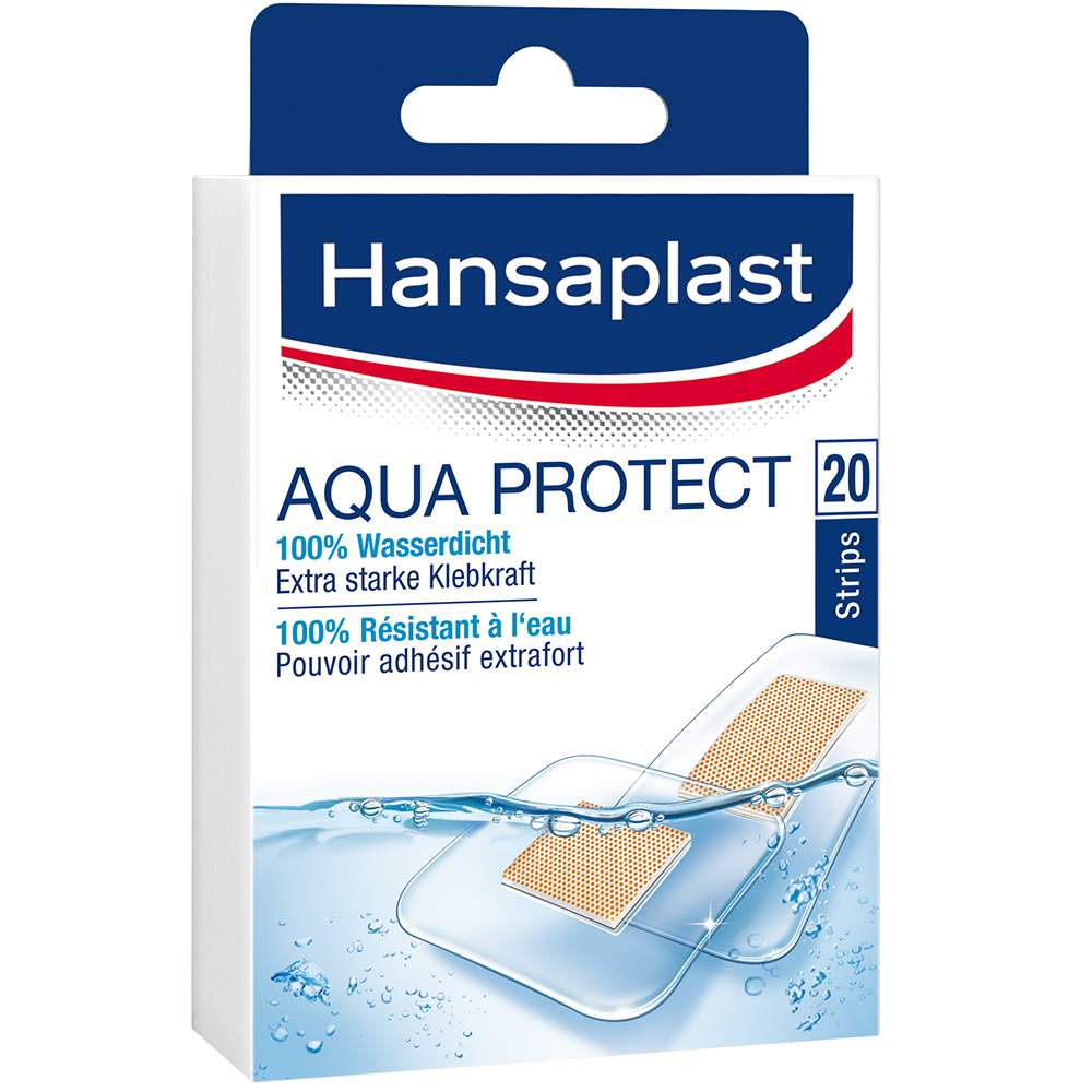 HANSAPLAST Aqua Protect 12 Strips 25 x 72 mm + 8 Strips 39 x 39 mm