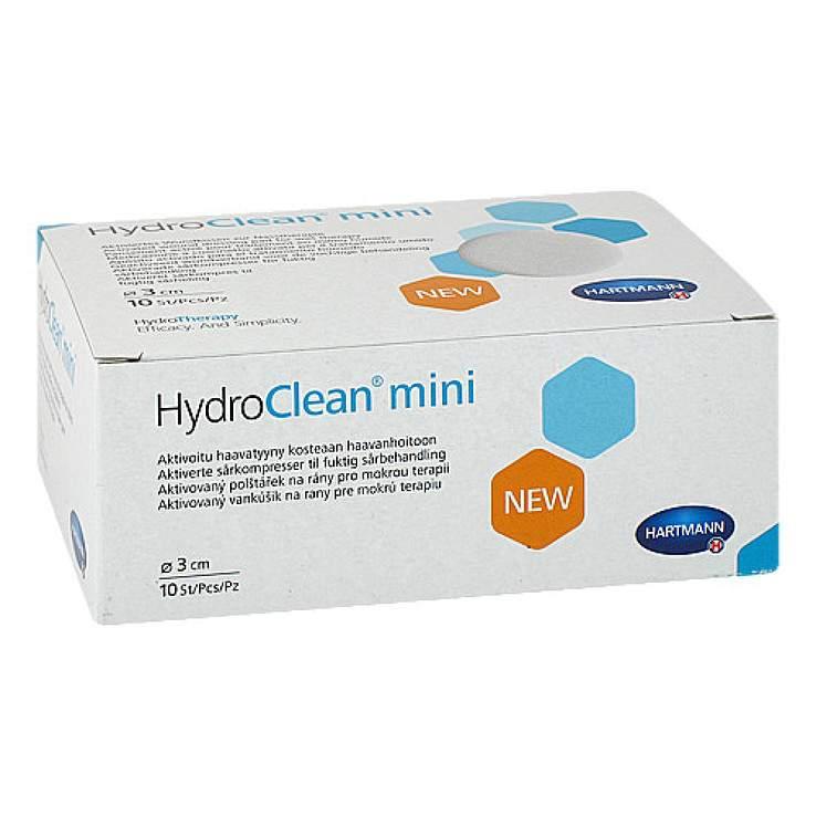 HydroClean® Mini 3 cm rund 10 Kompressen