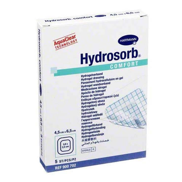Hydrosorb® comfort 5 Kompressen 4,5 cm x 6,5 cm