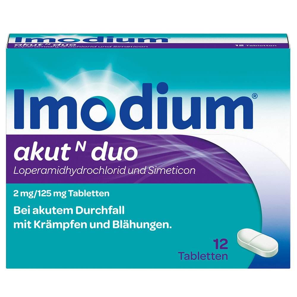Imodium® akut N duo 2 mg/125 mg 12 Tabletten