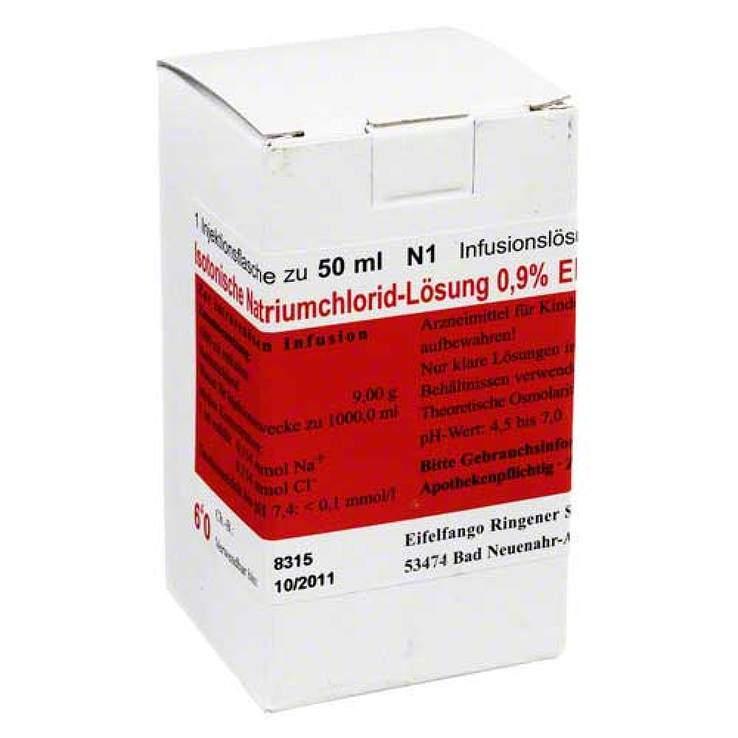 Isoton. NaCl 0.9% Eifelfango Inf.-Lsg. 50ml
