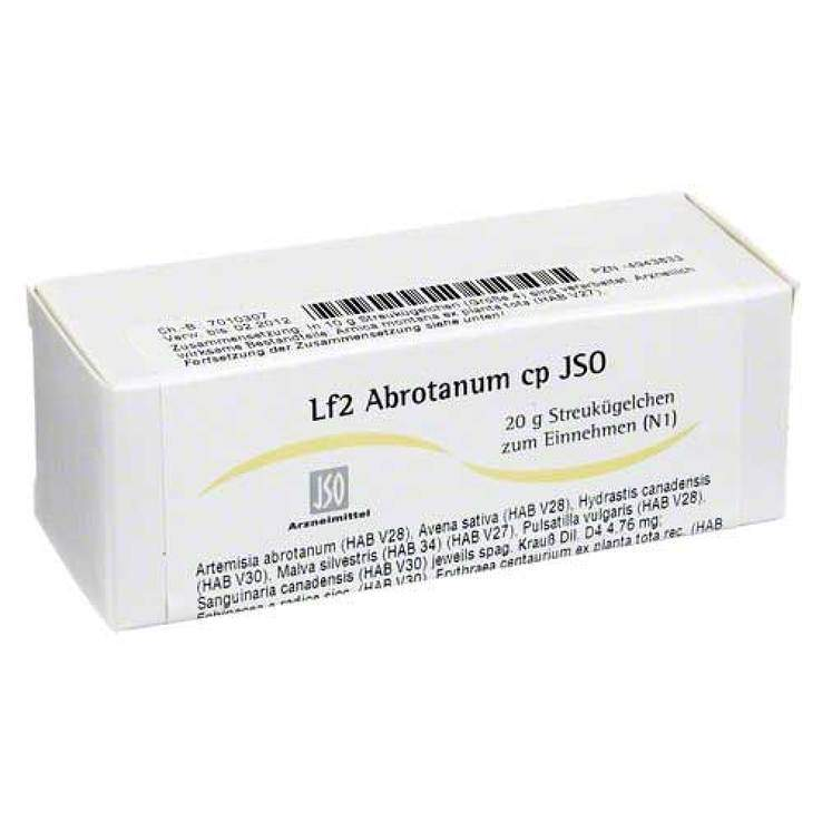 Jso JKH Lymphmittel Lf. 2 Abrot. cp. Glob. 20g