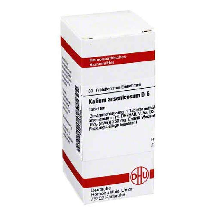 Kalium arsenicosum D6 DHU 80 Tbl.
