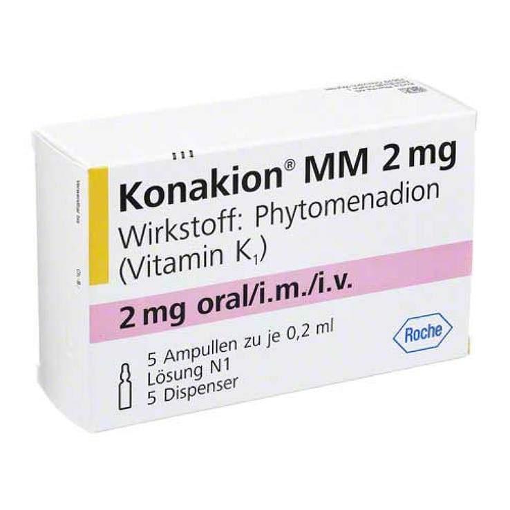 Konakion® MM 2 mg Lösung, 5 Amp. mit je 0,2 ml + 5 Dispenser