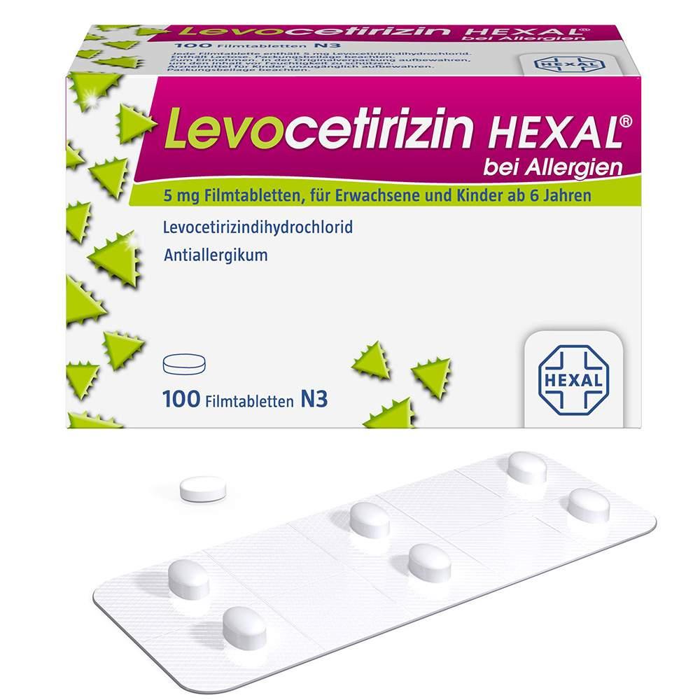 Levocetirizin HEXAL® bei Allergien 5 mg 100 Filmtabletten