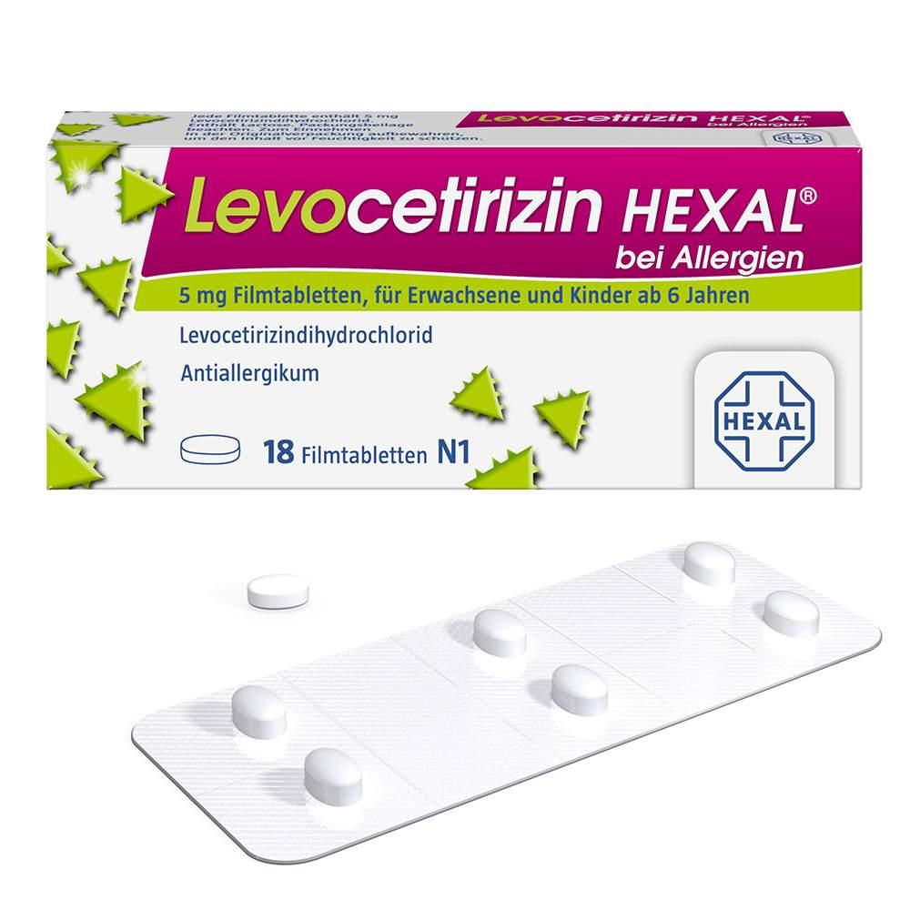 Levocetirizin HEXAL® bei Allergien 5 mg 18 Filmtabletten