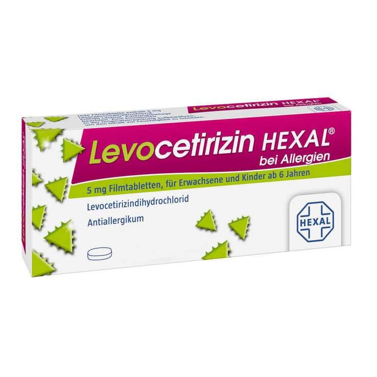 Levocetirizin HEXAL® bei Allergien 5 mg 6 Filmtabletten