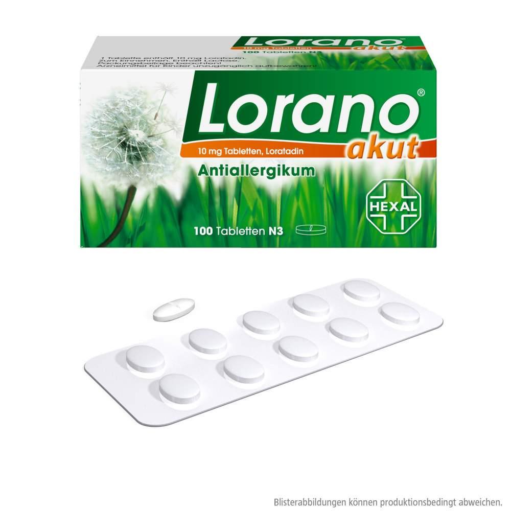 Lorano® akut 10mg 100 Tbl.