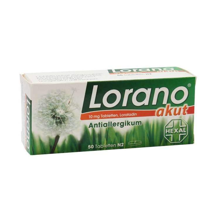 Lorano® akut 10mg 50 Tbl.